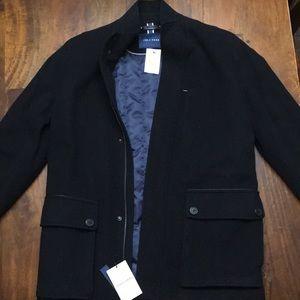 Cole Haan Men's Wool Coat (Black)